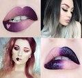2017 hot nueva mate 2 unids lápiz maquillaje duradero impermeable brillo de labios lápiz labial líquido brillo de labios cosméticos lima kit batom
