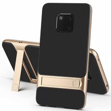 For Huawei Mate 20 Pro Case Luxury Soft silicone+PC With stand Hybrid Protective back cover case for huawei mate 20 20pro mate20