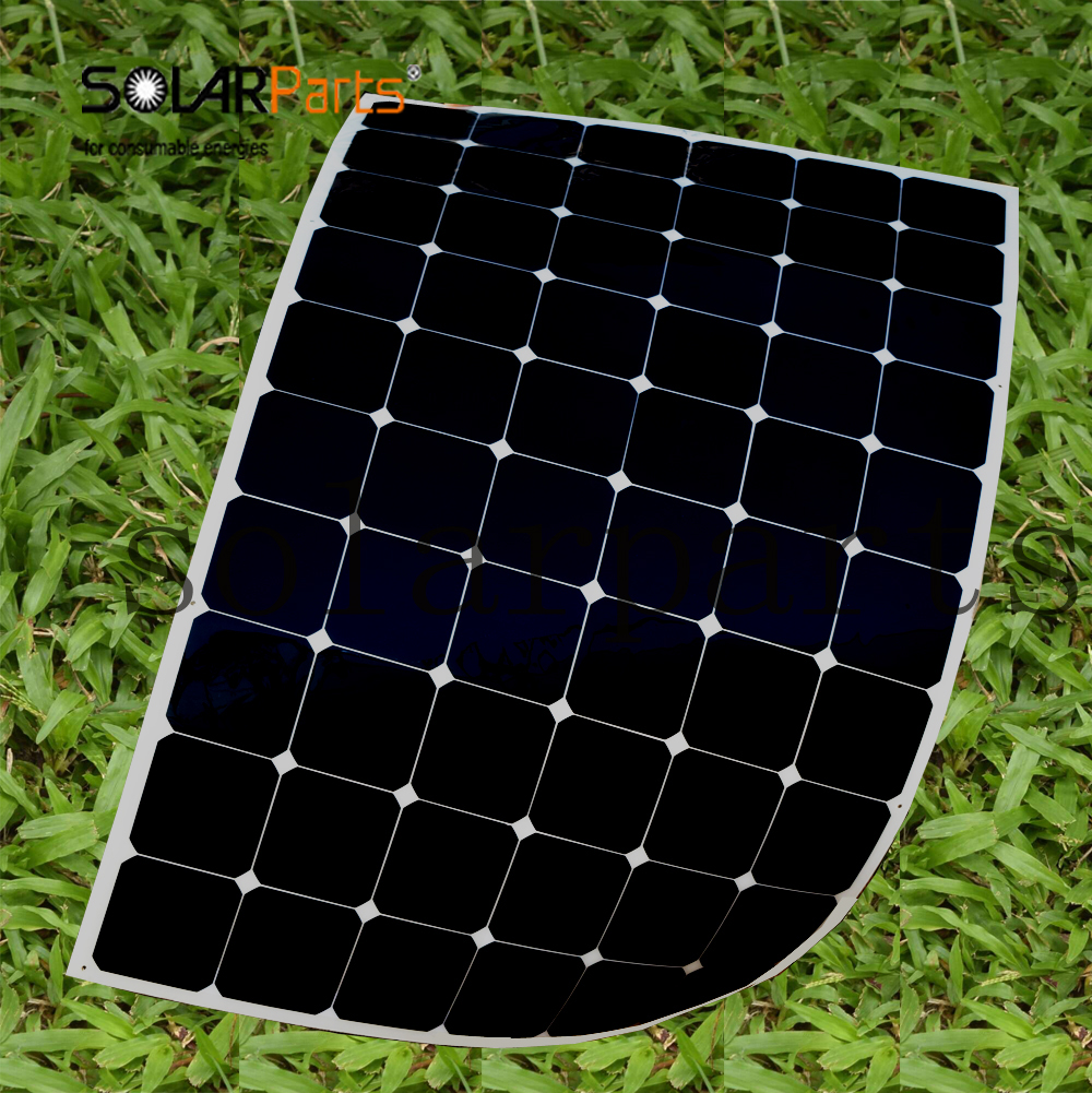 BOGUANG 180W semi-flexible contact solar panel with High efficiency solar cell the solar module charging the 24v battery sunpower solar cell 21 8 24% high efficiency solar panel cells 150pcs dog bone connector 150pcs for diy flexible solar panel