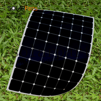 Solarparts 180W Semi Flexible Contact Solar Panel With High Efficiency Solar Cell The Solar Module Charging