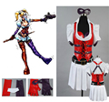 Batman Arkham Asylum Harley Quinn Harleen F.Quinzel Halloween Cosplay Dress Costumes Outfit For Adult Women Custom Made