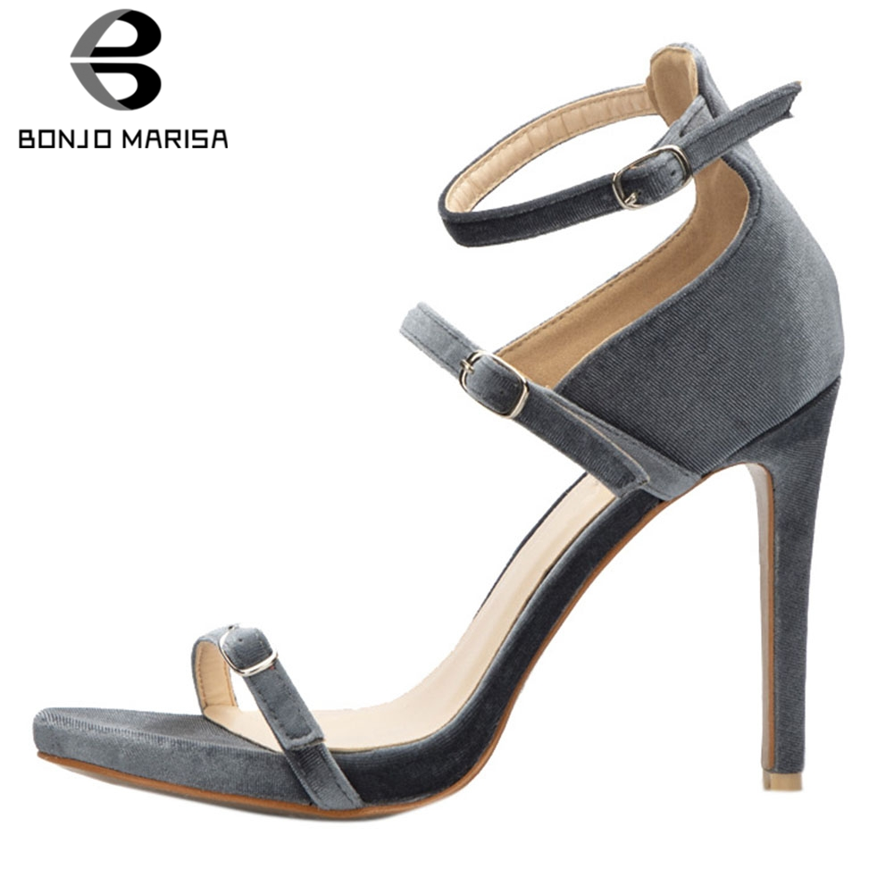BONJOMARISA Women Shoes Big Size 32-42 Gladiator Gray Fashion Casual Party High Heels Summer Sandals Shoes WomanBONJOMARISA Women Shoes Big Size 32-42 Gladiator Gray Fashion Casual Party High Heels Summer Sandals Shoes Woman