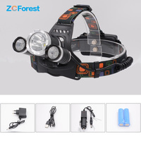 Head Lamp Led Rechargeable USB Waterproof XML T6 10000lm Powerful Headlamp 18650 Flashlight Battery Charger For