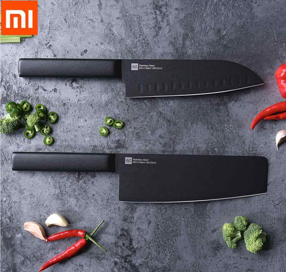 Xiaomi Kitchen Knife Huohou Stainless Steel Knife Knives Cook Set 7 Inch Material 50Cr15MoV HRC 55 Xmas Christmas new year gift