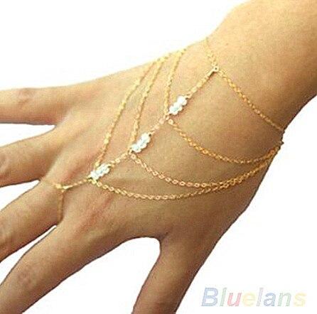 Fashion Celebrity Tassel Bangle Slave Finger Hand Chain Bracelet for Men Cross Pendant Bracelets Friendship Bangle pulseira