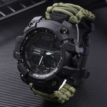 Top Luxury Brand AIDIS Men Sports Watch Fashion Outdoor Compass SHOCK Waterproof Military Digital Watches Relogio Masculino - DISCOUNT ITEM  30% OFF All Category