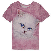 Men T Shirt Animal Short Sleeve Man Unisex Cute Cat 3D Print T-Shirt Men Tattoo Tops Male Short-sleeved Round Neck T-shirt Lover