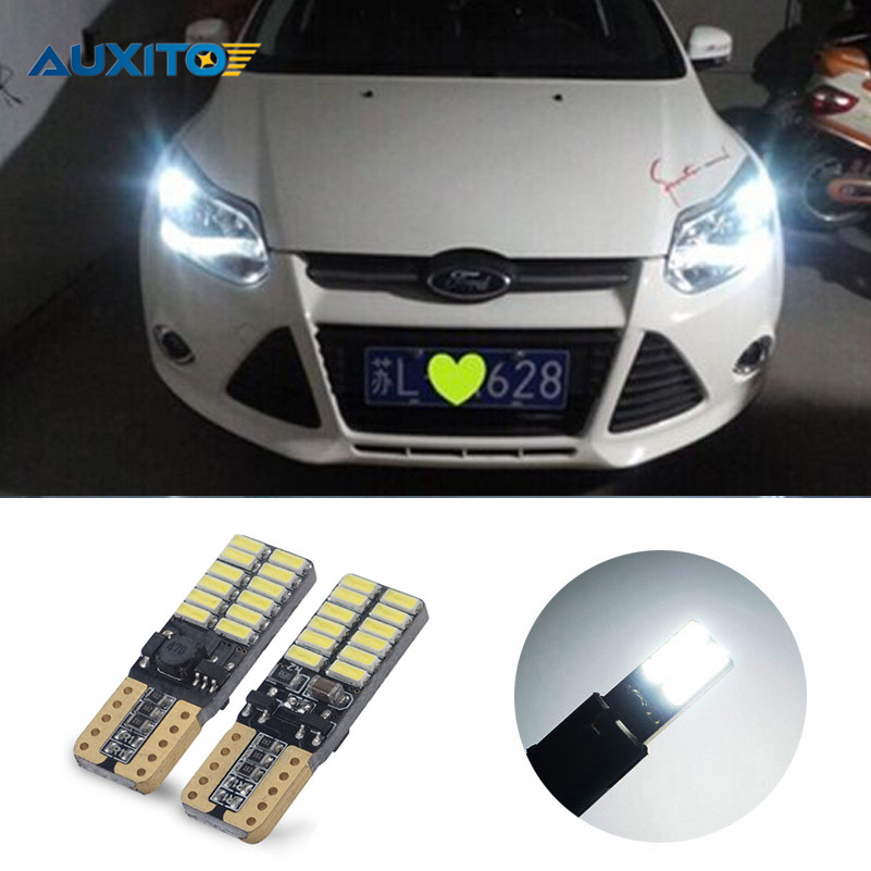 2Pcs Canbus Car LED T10 W5W 24LED Parking Light For Ford Focus 2 1 Fiesta Mondeo 4 3 Transit Fusion Kuga Ranger Mustang KA S-max товары для дома t 24 2 5 4 0