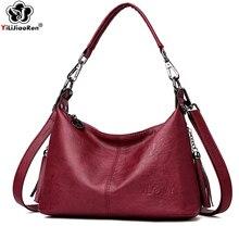Fashion Tassel Crossbody Bags for Women Brand Leather Shoulder Bag Female Designer Simple Messenger Bag Sac A Main Clutch 2019
