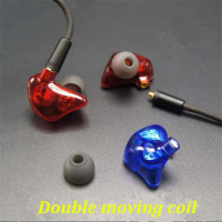 DIY DD1 Dual Moving Coil Unit Dynamic Monitor Stage DJ Studio HIFI Music Earphones Earbuds Headset
