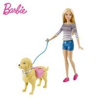 Original Barbie Doll Barbie Walk & Potty Pup Playset Dolls & Accessories Barbie Toy Princess Best Birthday Gift Toys for Girls