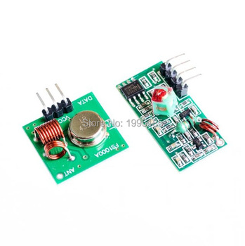 RF wireless receiver module & transmitter module board Ordinary super- regeneration 315/433MHZ DC5V (ASK /OOK) 1pair/Lot =2pcs image