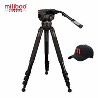 miliboo M25L Aluminum Broadcast Movie Vido Heavy Tripod for Professional Camcorder/Camera Stand with 75mm Bowl Size Load 25 kg