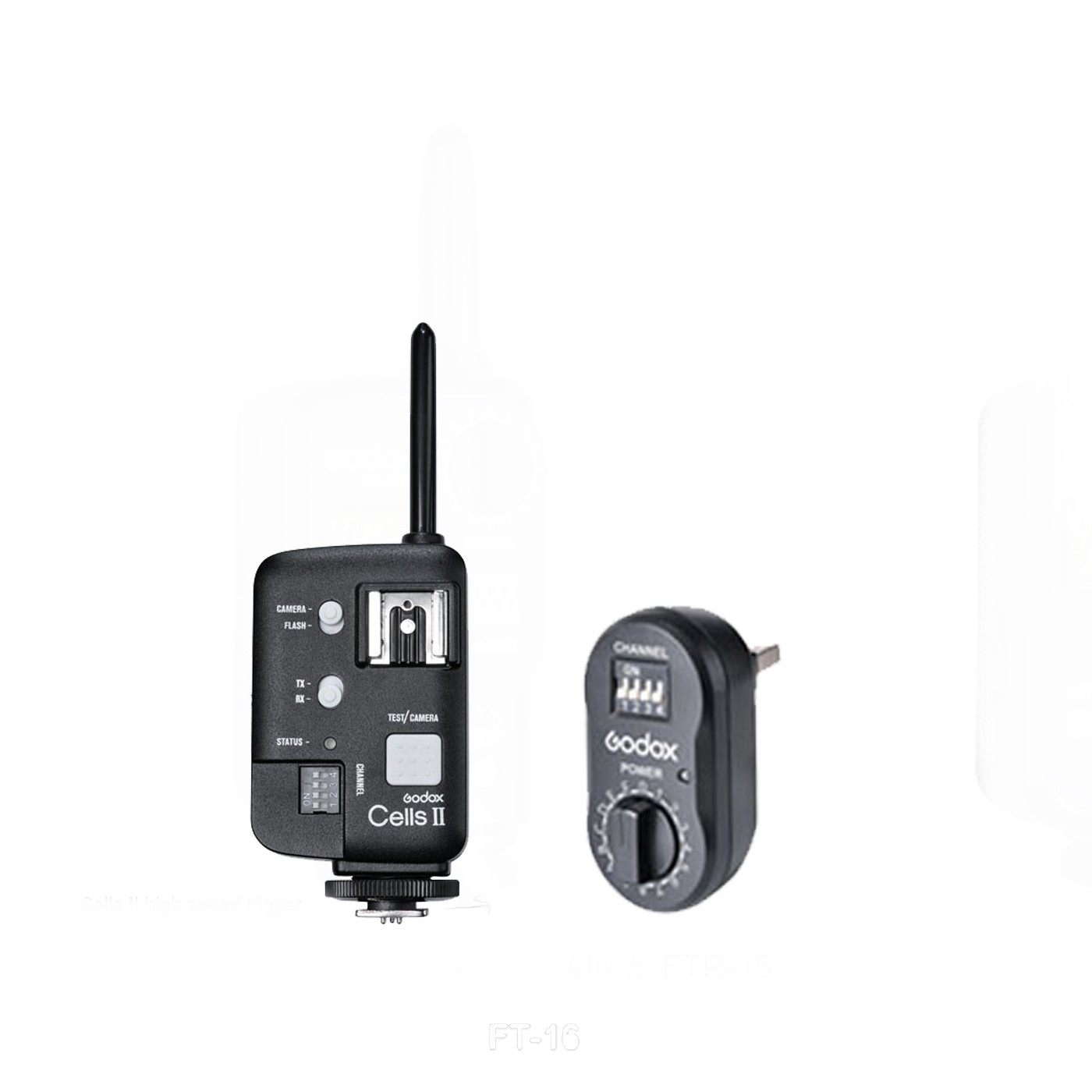 ФОТО Godox Cells II Wireless Flash Trigger Transceiver + FTR-16 FT-16 Receiver for AD360 AD180