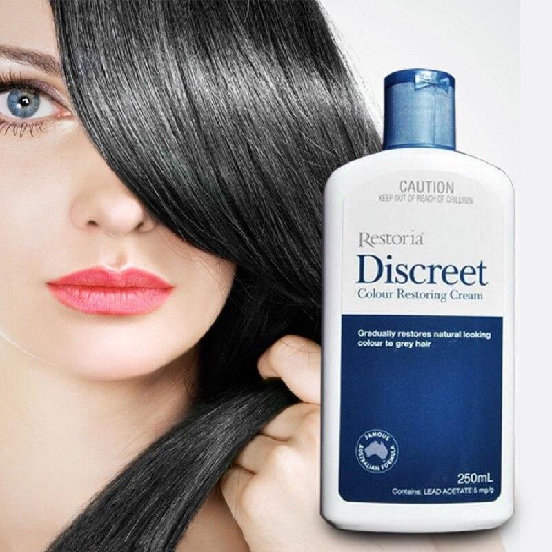 100%Australia made Restoria Discreet Colour Restoring Cream Lotion Hair Care250ml*2Pcs Reduce Grey Hair Suitable for Men &Women 4