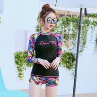 10 Colors WOMEN SWIM SETS TWO PIECES BATHING SUIT RASHGUARD SWIMWEAR LONG SLEEVE SURF WINDSURF TEE SUN SHIRTS TIGHTS ANTI UV