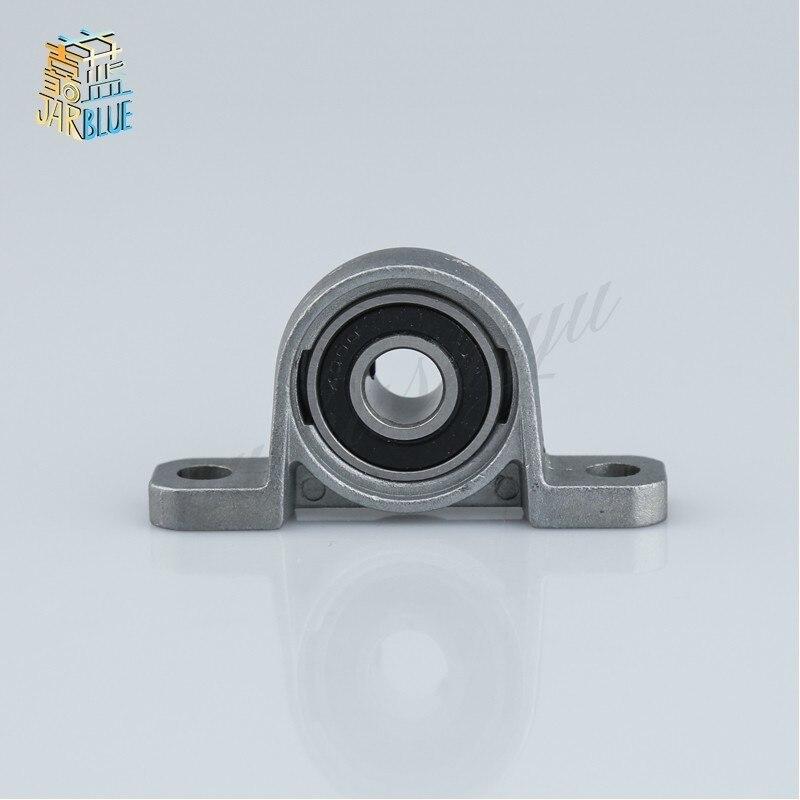 2Pcs KP08 8mm Diameter Bore Ball Bearing Pillow Block Mounted Support Zinc Alloy