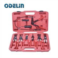 9 UNID Anillo Alicates Abrazadera De La Manguera Conjunto Flexible Cable Herramienta Alicate Mecánico Automático