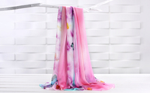 new pattern 100% long silk scarf women scarf shawl  high-grade brand designer scarf chinese style Digital printing shawl-b158