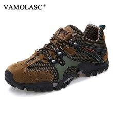 VAMOLASC New Men Outdoor Mesh Anti-Slip Waterproof  Hiking Shoes Outdoor Sports Breathable Mountain Walking Trekking Boots