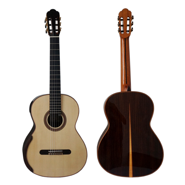 Aiersi Yulong Guo Professional Chamber Nomex Double Top Classical Guitar Model  GC02A 1