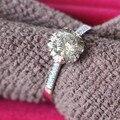 Corolla Ring 100% 18K White Gold Moissanite Jewelry Name Brand 0.5CT Lovely Diamond Ring Positive Moissanite Engagement AU750
