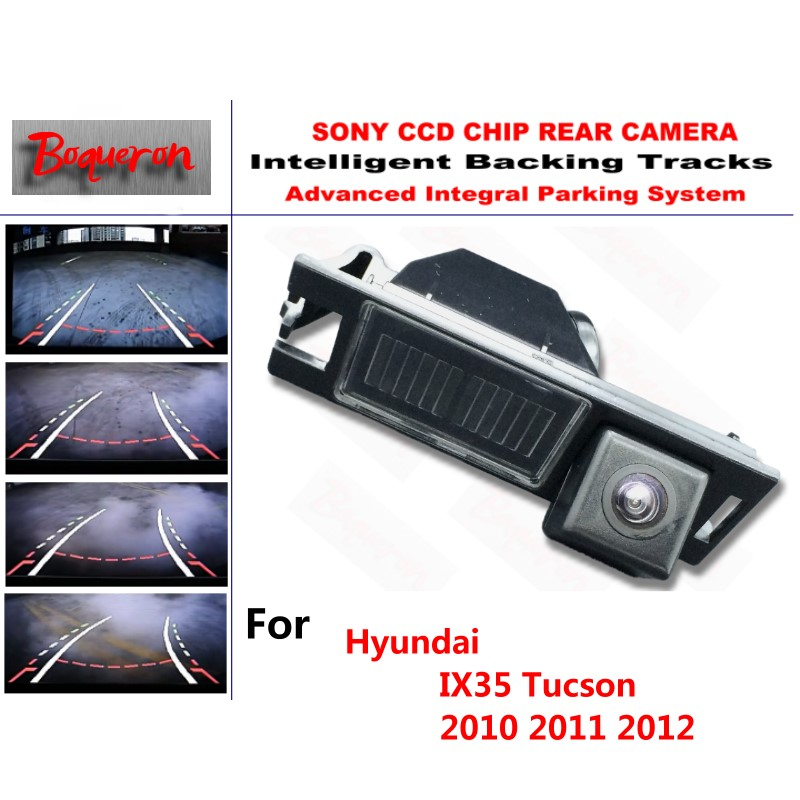 for Hyundai IX35 Tucson 2010 2011 2012 CCD Car Backup Parking Camera Intelligent Tracks Dynamic Guidance Rear View Camera car rear trunk security shield shade cargo cover for hyundai tucson 2006 2007 2008 2009 2010 2011 2012 2013 2014 black beige