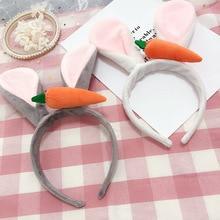 Korea Fuzzy Hand Made Rabbit  flowers Retro Hair Accessories Bows Flower Crown Hairpin Headbands For girls