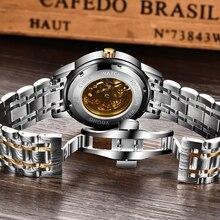 LIGE Mens Watches Top Luxury Brand Watch Stainless Steel Waterproof Automatic Mechanical Dragon Watch Men Relogio Masculino+Box