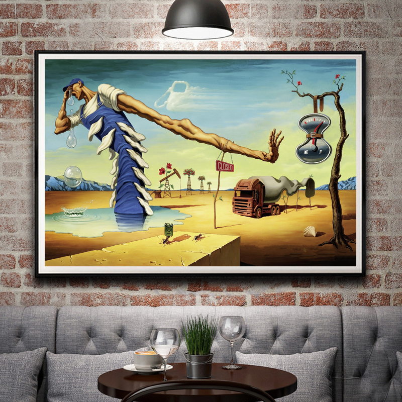 Abstract Painting Salvador Dali Surreal Artwork Vintage Art Silk Poster Home Decor 12x18 16X24 20x30 24x36 Inches Free Shipping