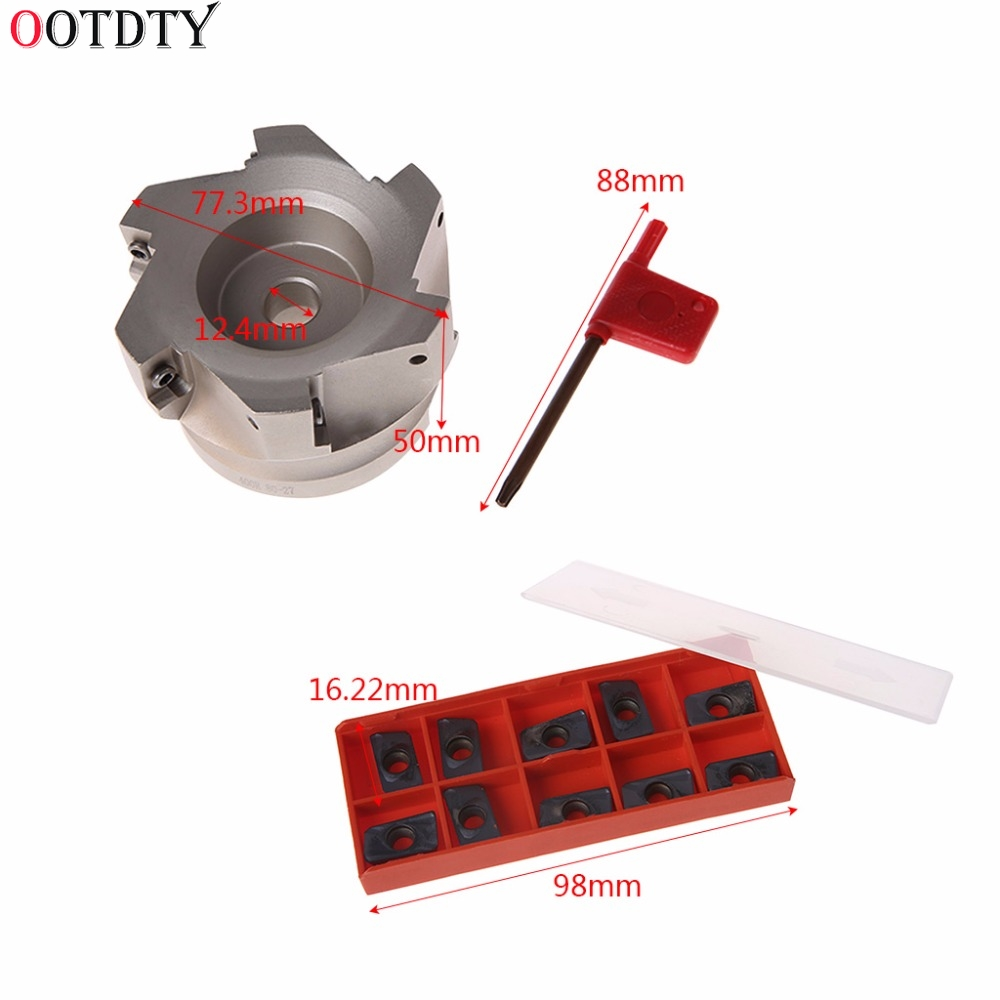 Milling Cutter BAP 400R 80 27 6F 6Flute Indexable Face End Mill Cutter With 10x APMT1604PDER Insert