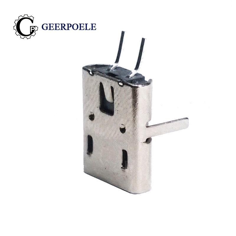 20 Pcs/lot USB 90 Degree DIP 2 Pin USB Connectors Plastic Shell Micro USB Connector Jack Tail Plug Mini Sockect Terminals