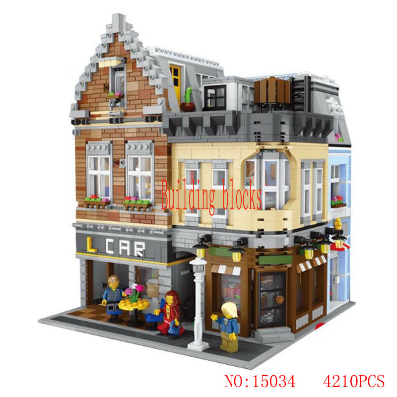 LEPIN 15034 4210Pcs City Street Series Building City Dreamer Set Building Blocks Bricks Educational Toys Model As Boy's Gifts a toy a dream lepin 15008 2462pcs city street creator green grocer model building kits blocks bricks compatible 10185