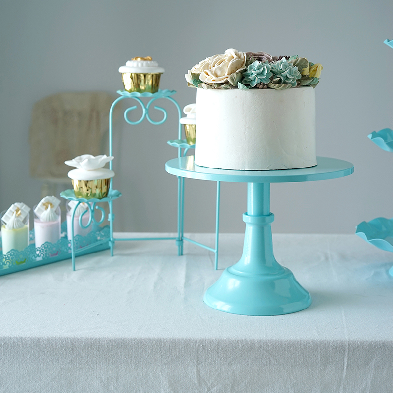 Outstanding Tiffany Blue Color Cake Decoration Stands For Wedding Birthday Funny Birthday Cards Online Alyptdamsfinfo