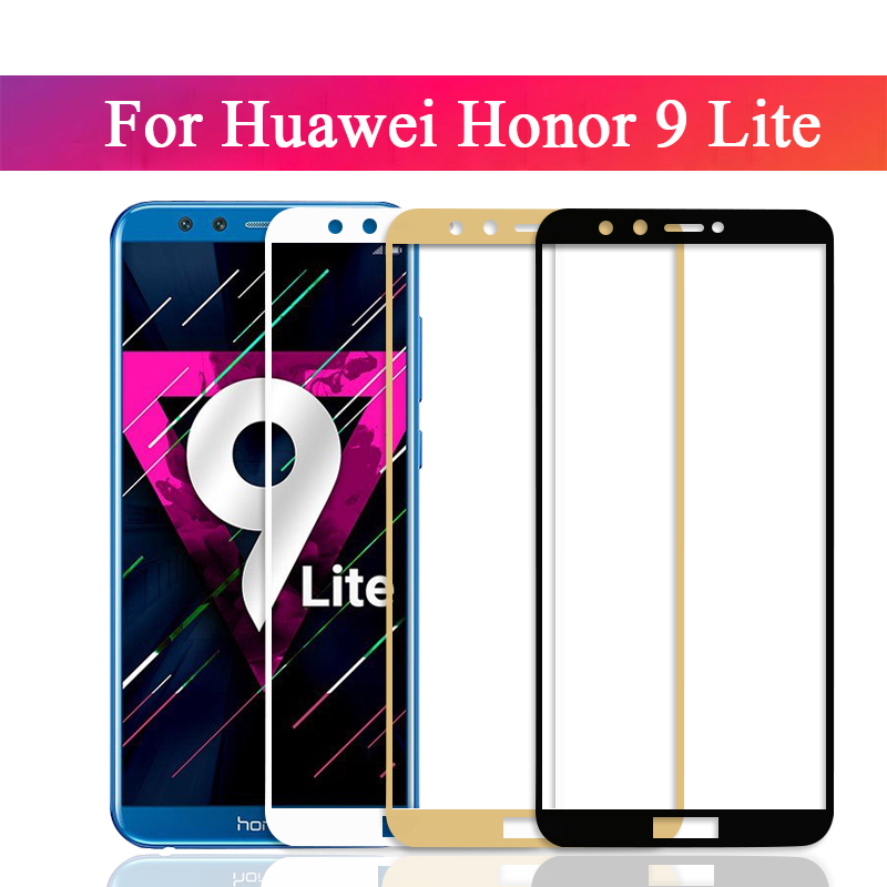 9h full cover screen tempered for huawei <font><b>honor</b></font> <font><b>9</b></font> <font><b>lite</b></font> <font><b>Protective</b></font> <font><b>film</b></font> for huawei <font><b>honor</b></font> <font><b>9</b></font> <font><b>9</b></font> light Protector <font><b>Film</b></font> on hono <font><b>9</b></font> 9lite image