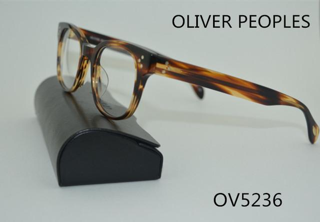 Nova ality highqu marca Oliver pessoas OV5236 retangular retro óculos de armação homens e mulheres vidros míopes óculos de coxas