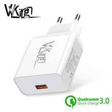 VVKing Quick Charge 3.0 USB Charger 5V 3A Fast Charging EU/US Plug For iPhone Samsung Xiaomi Huawei LG Mobile Phone Wall Charger usb charger eu us plug 3 ports quick charge fast charging mobile phone charger for iphone x samsung xiaomi huawei travel charger