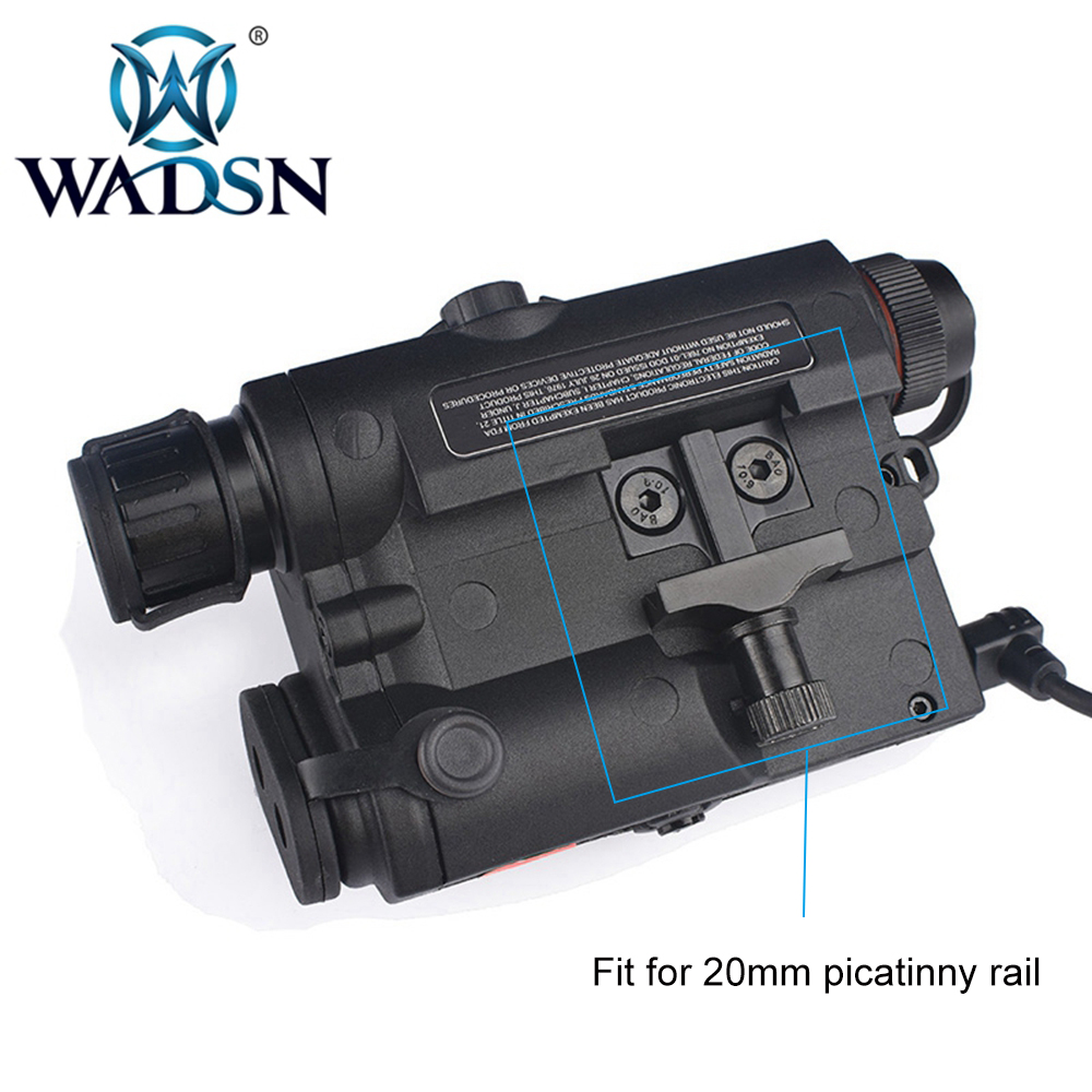 Image 5 - WADSN Airsoft LA 5 Red Lazer IR Laser LED Flashlight UHP Appearance IR laser PEQ 15 LA5C red lazer Tactical Weapon Light WEX396-in Weapon Lights from Sports & Entertainment