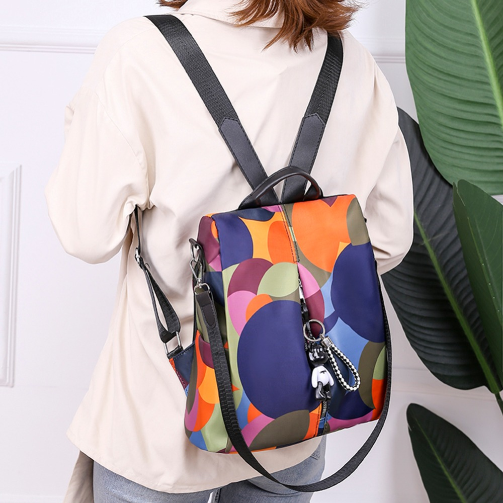 HTB1d3LrNrrpK1RjSZTEq6AWAVXad Casual Oxford Cloth Women Backpack Anti Theft Girls Schoolbags Teenager Travel Daypack Shoulder Bag Colorful Fashion Back Pack
