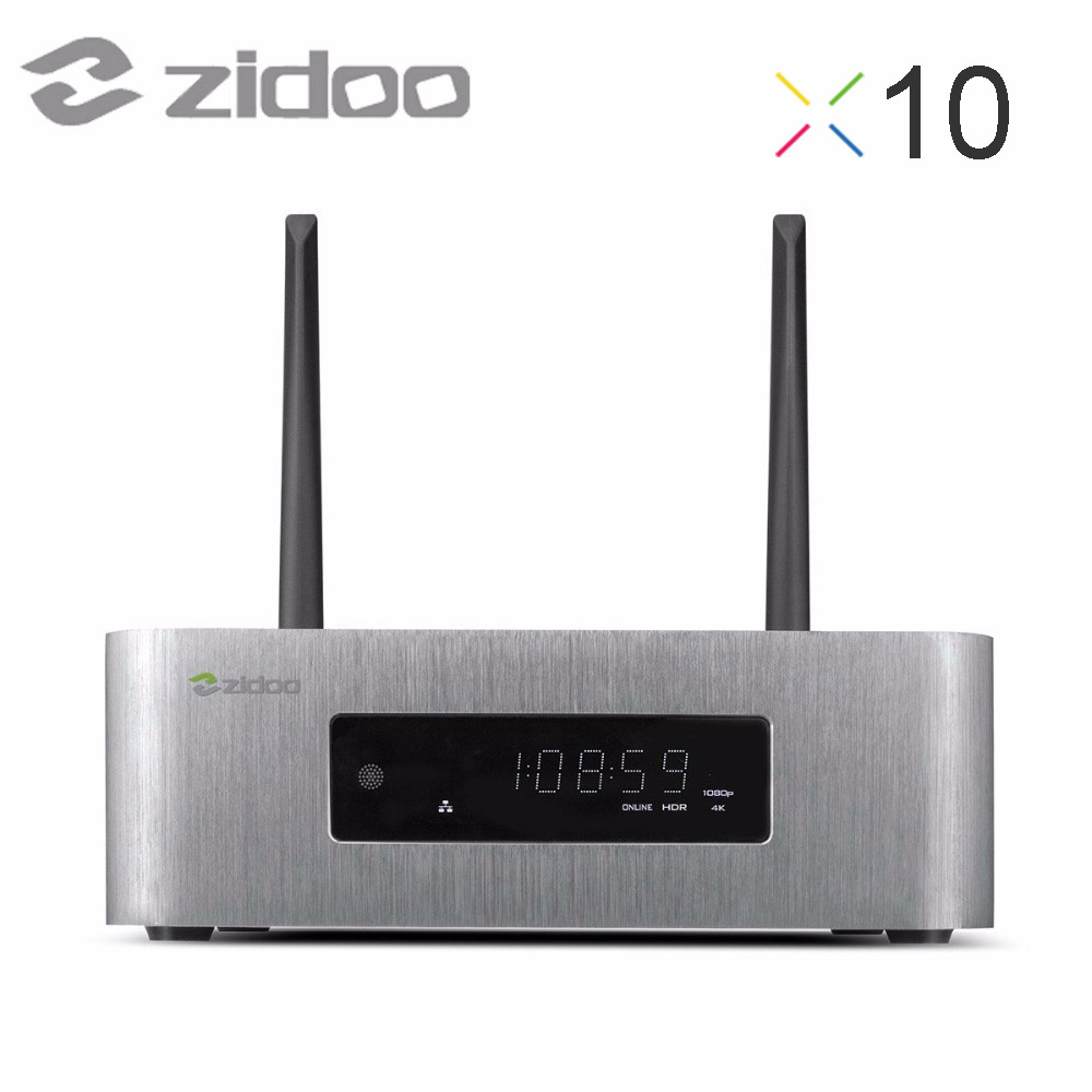 Prix pour Zidoo x10 android6.0 tv box quad core 2g/16g dual band wifi openwrt (nas) double Système 1000 M LAN HDR USB 3.0 SATA 3.0 Media Player