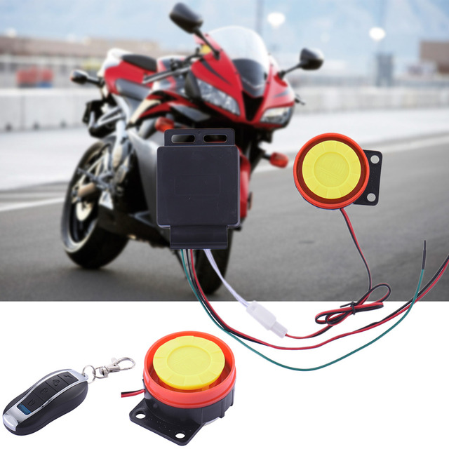 Newest Motorcycle Alarm System Anti-theft Security Alarm System Remote Control Engine Start with 2 X 3V CR2025 Battery