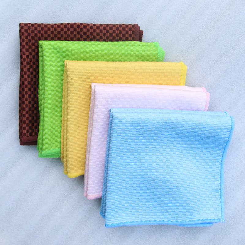 Us 1 78 30x30cm Microfiber Plaid Cloth Kitchen Rags For Home Superabsorbent Dishcloth Wipes Car Glass Foor Table Window Cleaning Cloth In Cleaning
