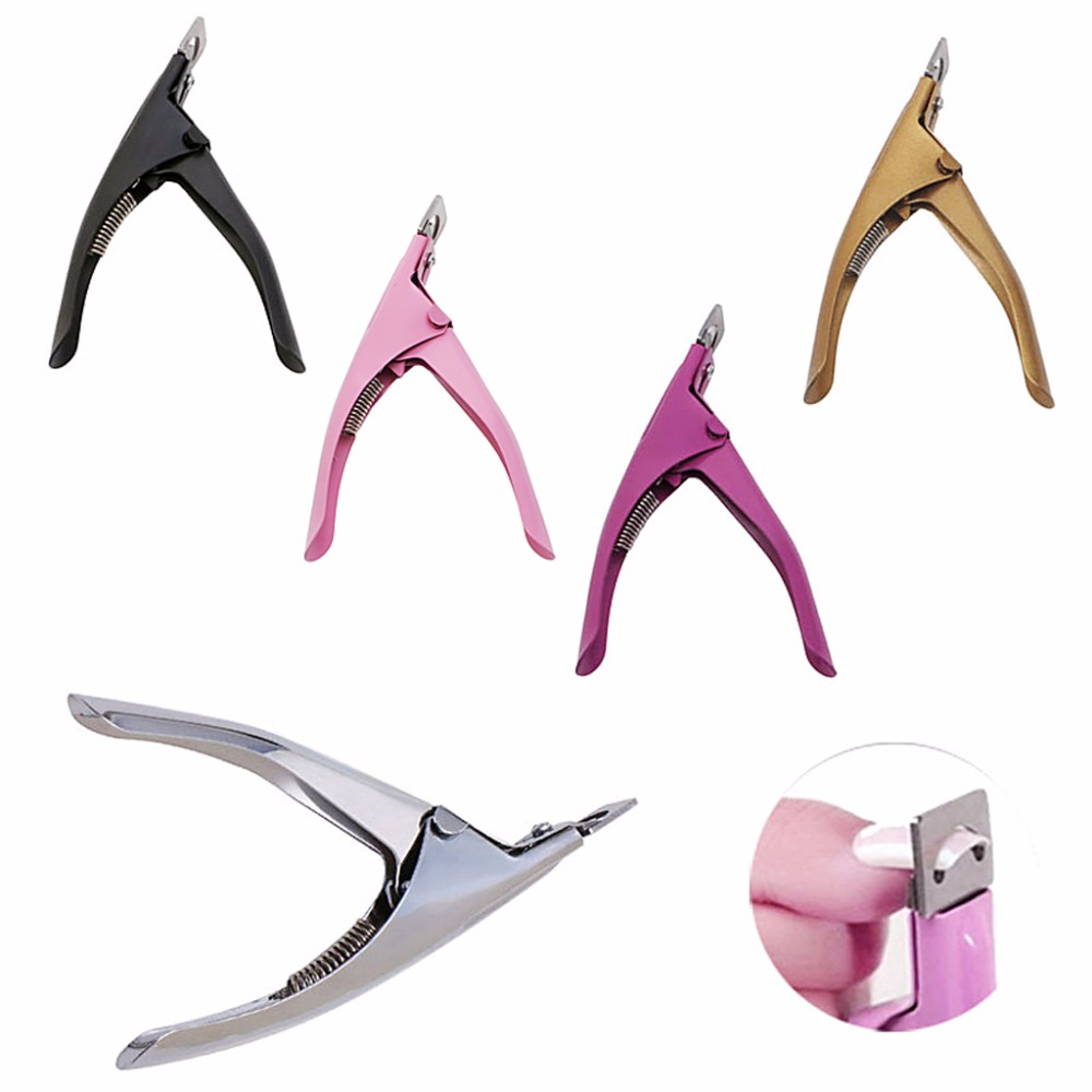 New Acrylic UV Gel Nail Clippers Cutter False Nail Tips Cutting Nails Tool Manicure Beauty Tools Hot Sale
