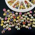5 mm pérola strass 3d Nail Art Metal Studs jóias encantos DIY Manicure decoração de unhas jóias frete grátis
