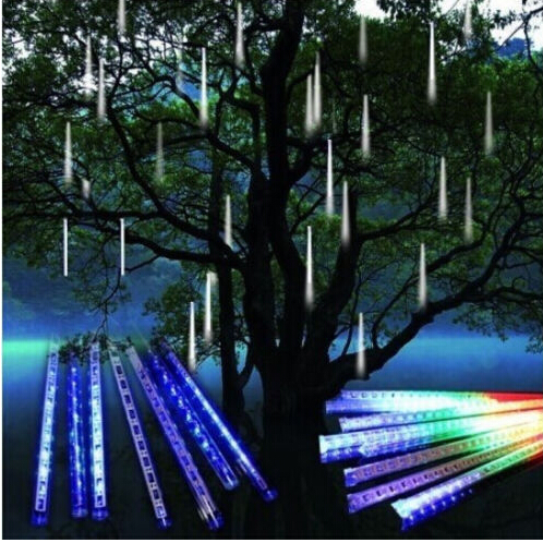 50cm 240led meteor shower rain tube string light snowfall lamp 50cm 240led meteor shower rain tube string light snowfall lamp outdoor garden tree lighting decor garland workwithnaturefo