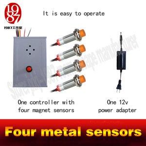 Image 3 - Gerçek canlı odası kaçış oyun prop dört metal sensörler dokunmatik sağ sipariş kilidini ses dokunmatik sipariş to relasethe kapı