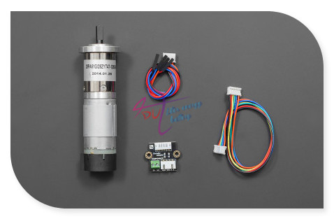 DFRobot 12V Low noise DC Gear Motor, 146RPM 1.0N*m With 51:1 reducer + 13PPR Encoder for competition or harsh environments robot