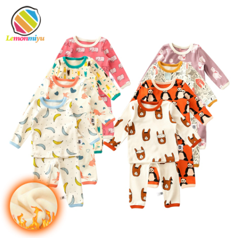 a6b7989a2 Lemonmiyu Baby Cotton Fleece Sleeper Suits 2pcs set 0 24M Print ...