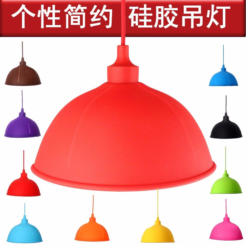 ФОТО Loft Retro Nostalgia Rubber Kinds Of 10 Colorful Pounce Edison E27 Lamp Holder Silicone Gel Droplight Children's Bedroom