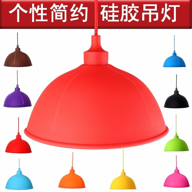 Loft Retro Nostalgia Rubber Kinds Of 10 Colorful Pounce Edison E27 Lamp Holder Silicone Gel Droplight Children's Bedroom